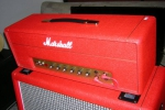 Marshall 1987 Plexi Custom Red Tolex Stack - 2