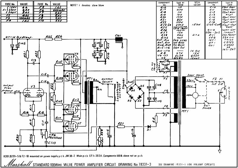 marshall st  ard schematics  u2013 amp archives