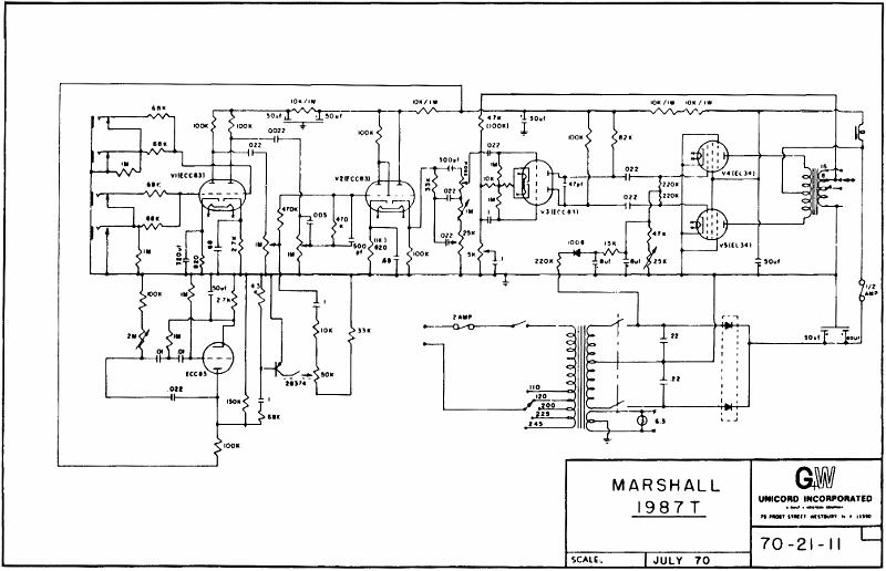 schematics marshall mg hcfx
