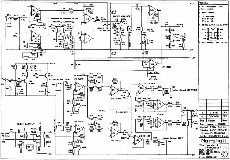Marshall Amplifier Wiring Diagram : Marshall preamp manual free user guide